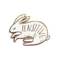 Sensitive Bunny Enamel Pin