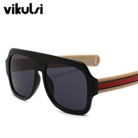 2018 Oversized Flat Top Sunglasses For Women Brand Designer Vintage Square Sun Glasses Men Big Frame Glasses Female Male UV400