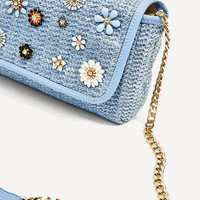 CROSSBODY BAG WITH FLOWERS - NEW IN-WOMAN   ZARA United States