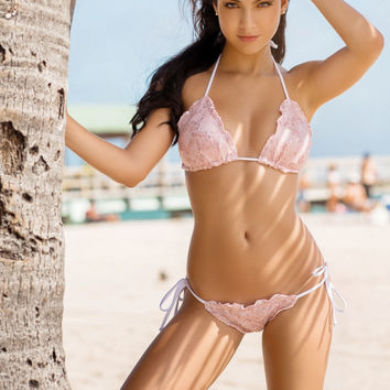 Ice Scalloped & Scrunch Swimsuit