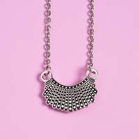 Dissent Collar Necklace-Silver
