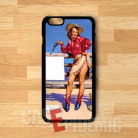 pin-up cow girl action-NY for iPhone 4/4S/5/5S/5C/6/ 6+,samsung S3/S4/S5,S6 Regular,S6 edge,samsung note 3/4