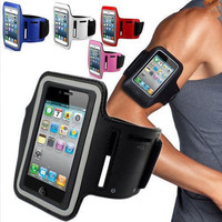 Durable Running Jogging Sports GYM Armband Arm Strap Case Cover Holder for iPhone 5 5S 5C Waterproof Mobile Phone Bag Case