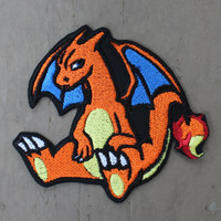 Pokemon Charizard Embroidered Iron-On Patch