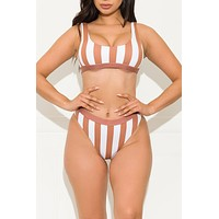 Jetties Beach Two Piece Swimsuit Brown