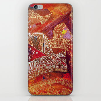 golden maze iPhone & iPod Skin by Marianna Tankelevich