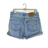 Levis High Waisted Shorts Distressed Short High Wasted Shorts High Waste Shorts 90s Shorts Levis Shorts Highwaisted Shorts Blue Jean Shorts