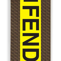 iPhone 4 Case - Rubber (TPU) Cover with fendi logo Rubber Case Design