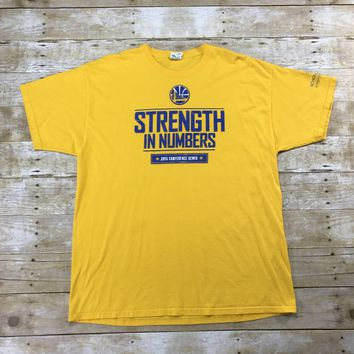 Golden State Warriors Strength in Numbers 2015 Conference Semis Promo Shirt Mens Size XL