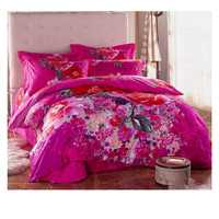 Cotton Active floral printing Quilt Duvet Sheet Cover Sets 2.0M/2.2M Bed Size 47
