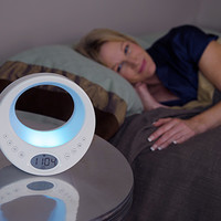 Serenity Wake To Light Clock With Soothing Sounds      @ Sharper Image