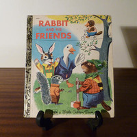 "Vintage 1980 Book ""Rabbit and His Friends"" - A little Golden Book / Retro kid's book / Golden Press Library / By Richard Scarry"