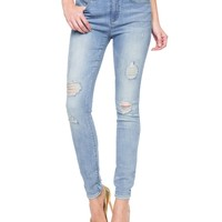 Glamour-Soft Indigo Skinny by Juicy Couture