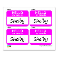 Shelby Hello My Name Is - Sheet of 4 Stickers