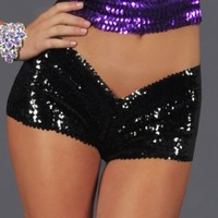 Sequin Booty Shorts, Dance Competition Shorts, Glitter Shorts, Dance Costumes