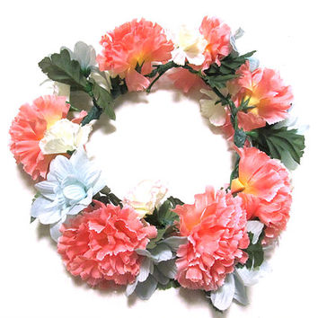 pastel large flower crown