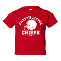 Daddys Little Chiefs Fan Great Kansas City Football Hoodie Personalize It Great For Any Occasion Sized 2t Thru Youth XL