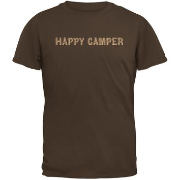 Happy Camper Brown Youth T-Shirt