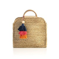 Adria Top Handle Raffia Bag