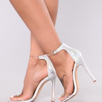 Mysterious And Fine Heel - Silver
