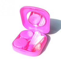 Mini Contact Lenses Case Travel Kit Mirror Container Holder Practical Colorful Glasses Box Eyewear Accessories