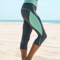Capri Workout Leggings - Mint