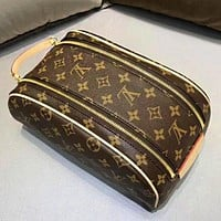 Inseva LV Louis Vuitton Classic Hot Sale Women Makeup Bag Cosmetic Bag Double Zipper Purse Wallet Handbag