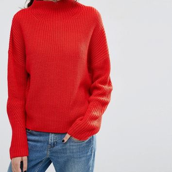 ASOS Ultimate Chunky Jumper with High Neck