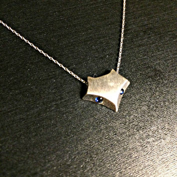Sterling Silver Fox Necklace - Dainty fox necklace Animal Jewelry Valentines Gift