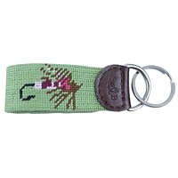 Fishing Fly Needlepoint Key Fob in Green by Smathers & Branson