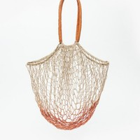 And So It Goes / Large Basket Tote In Red