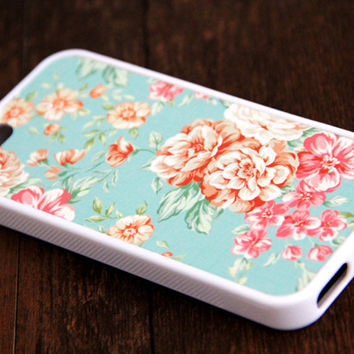 Floral iPhone and Samsung Galaxy Rubber Case