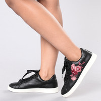 Rock And Rose Sneaker - Black