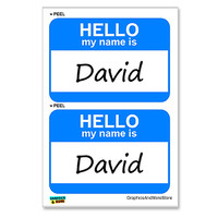 David Hello My Name Is - Sheet of 2 Stickers