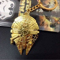 Star Wars Golden Spaceship Keychain Pendant FREE