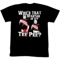 Saturday Night Live Who's That Spartan In My Tee Pee Adult Black T-shirt - Saturday Night Live - | TV Store Online