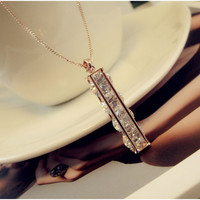 Crystal Silver Hair Accessories Star Korean Chain Necklace = 4831027972