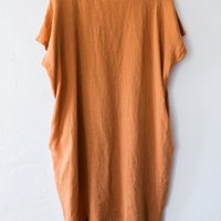 black crane rust cocoon dress