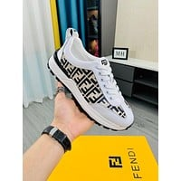 FENDI 2021 Men Fashion Boots fashionable Casual leather Breathable Sneakers Running Shoes09070cc