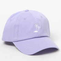 Vans Court Palm Tree Lavender Strapback Dad Hat at PacSun.com