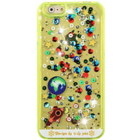 Galaxy Glitter Neon Waterfall iPhone Case