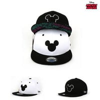 NWT DT38 Authentic Disney Simple Mickey Mouse Shape Snapback Hat Baseball Cap