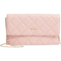 kate spade new york emerson place - brennan quilted leather convertible clutch & card holder | Nordstrom