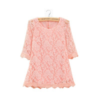 Age 2-11T Baby Girls Kid Princess Hollow Out Flower Party Dress Lace Dress