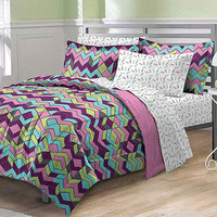 Walmart: My Room Albuquerque Complete Bed in a Bag Bedding Set, Pink/Multi