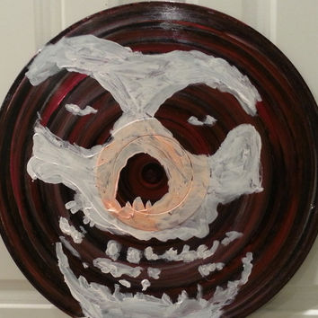 Painted Record, Misfits, Horror Punk, Art on Vinyl LP, Painted Records, Recycled Records, Music Art, Punk Art