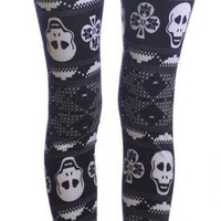 Lucky Skulls Ankle Leggings