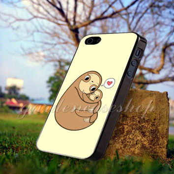 Sloth - for iPhone 4/4s, iPhone 5/5S/5C, Samsung S3 i9300, Samsung S4 i9500 *GARDENCASESHOP*