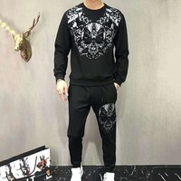 Philipp Plein Top Sweater Pullover Pants Trousers Set Two-Piece Sportswear