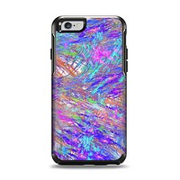 The Abstract Colorful Oil Paint Splatter Strokes Apple iPhone 6 Otterbox Symmetry Case Skin Set